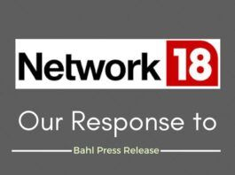 Our rebuttal to Raghav Bahl Press Release
