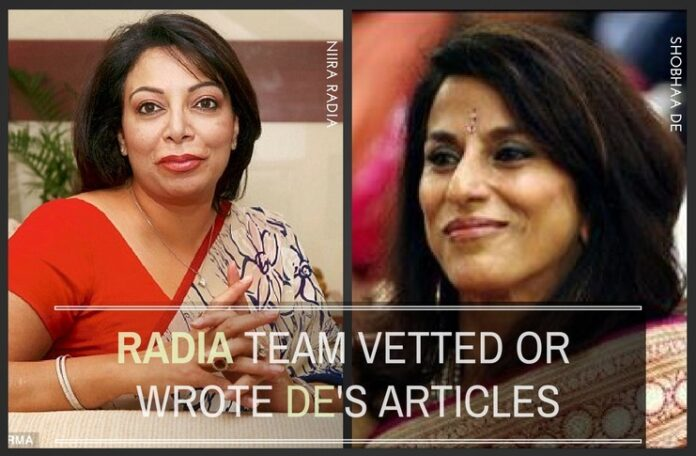 These conversations reveal how Radia's team may have ghost written for Shobhaa De