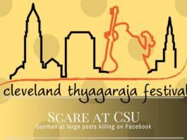 Scare at CSU where the annual Thyagaraja Aradhana festival is being held in Cleveland as the Police hunt for a killer