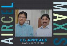 In the Aircel-Maxis case involving Marans, ED has appealed the verdict