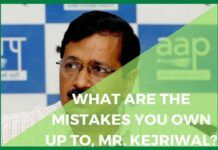 What are the mistakes you own up to, Mr. Kejriwal?