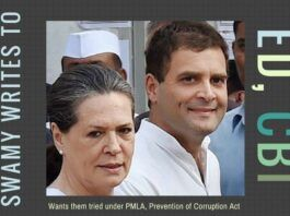 Swamy writes to CBI, ED directors and urges them to book Sonia, Rahul under PMLA and Prevention of Corruption Act