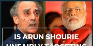 Arun Shourie Unfairly Targeting Modi