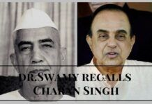 Dr.Swamy recalls Charan Singh