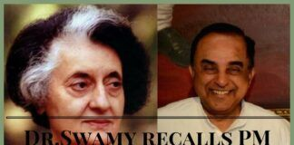 Dr. Swamy interaction with Mrs.Gandhi