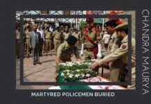 Director General of Police Dr SP Vaid saluting brave hearts of J&K martyred policemen who laid down their lives in the line of duty