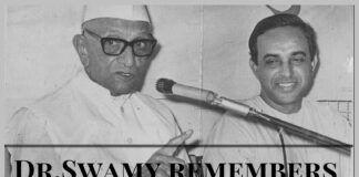Dr.Swamy recalls Morarji Desai