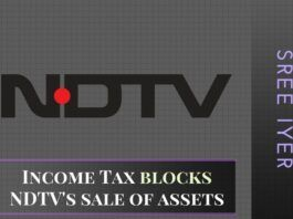 The Income Tax Dept. has sent a letter to NDTV blocking its sale of assets to Nameh