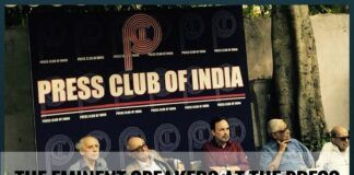 A need to observe the speakers at Press club of India