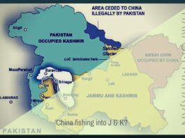 Is China saber rattling when it says it will wade into J and K?
