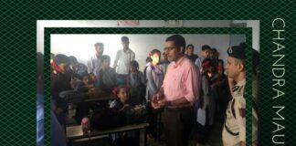 DC Rajouri interacting with students in a school in Nowshera sector