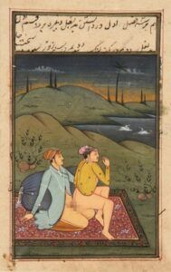 An old illustration of the homosexual activity in the Mughal era
