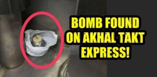 Bomb on Akhal Thakt express