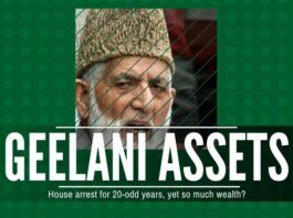 Shocking accumulation of assets by Geelani despite being under House Arrest