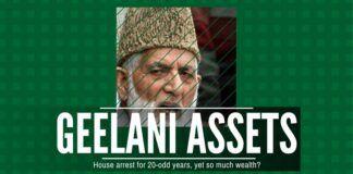 Shocking accumulation of assets by Geelani despite being under House Arrest