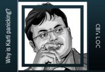 Karti attempts to preempt a Look out Circular by CBI issued to prevent him from fleeing the country
