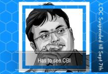 A Look Out Circular has been suspended till Sept 7th but Karti must face CBI for questioning