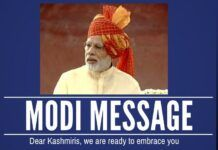PM Modi delivers a clear message to the people of Kashmir