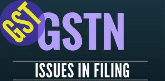 Technical glitches in GST filings - memorandum to the Revenue Secretary