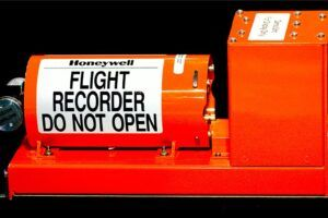 The current blackbox being utilized in airplanes. Image credits skift.com