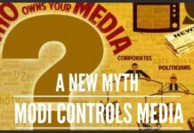 Modi controls media : A new myth