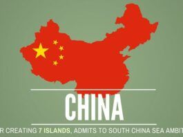 After much posturing, denial and huffing and puffing, China admits to its island building and military build-up in the South China Sea