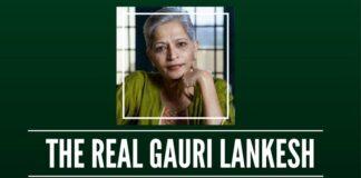 What had Gauri Lankesh done to merit a 21-gun salute?