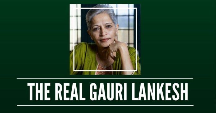 What had Gauri Lankesh done to merit a 21-gun salute?