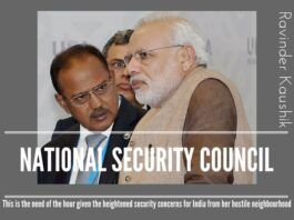 Blueprint of an Executive National Security Council : Need of the Hour