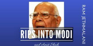 Ram Jethmalani expresses his ire at Modi and Shah for setting up a witness against him in the BJP party expulsion case