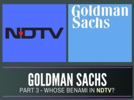 Whose interests were GS representing in NDTV?