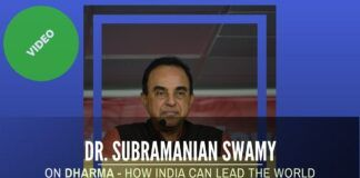 Dr. Subramanian Swamy talks about Dharma - How India can lead the world an event sponsored by Jayendra Kalakendra & the Univ. of Silicon Andhra