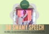 Speech by Dr. Subramanian Swamy at GLF