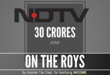 ITD findings of property owned by Prannoy Roy and Radhika Roy lays bare their lies and fined Rs. 30 crores each for tax evasion