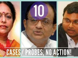 The inaction of the current government after registering 10 cases against the Chidambaram family is bizarre