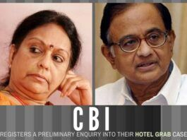 In a blatant instance of hotel grab, Nalini Chidambaram threatened a hotel owner in a telephone conversation of dire consequences