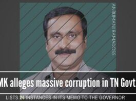 AIADMK rocked by PMK alleging 24 major counts of corruption in their memorandum to the Governor of Tamil Nadu