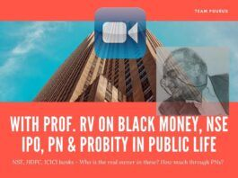 Taking aim at the current polity and businesses for lack of Probity in Public life, Prof. RV details how a Finance Minister used verbal gymnastics