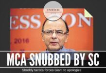 MCA snubbed by the apex court for its shoddy tactics in the Unitech case
