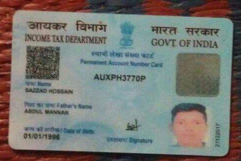 Md. Kabir India PAN Card