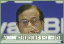 "CHIDDU"" HAS EITHER FORGOTTEN J&K HISTORY"