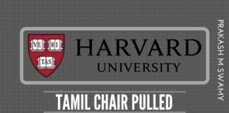 Co-Founder of Harvard Tamil Chair agrees to pull the plug after being made aware of Harvard's practices