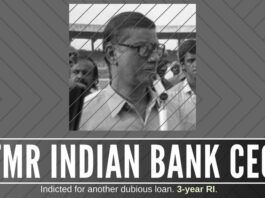 Former Indian Bank CMD Gopalakrishnan sentenced to 3-year Rigorous Imprisonment. When will his political boss go to jail?