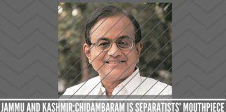 Chidambaram Is Separatists' Mouthpiece