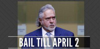Mallya granted bail till April 2nd