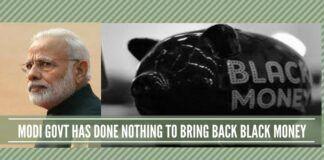 Modi Govt has done nothing to bring back black money