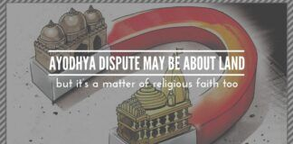 Ayodhya dispute may be about land