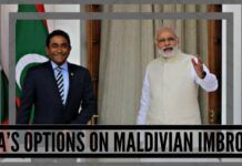 India 's options on Maldivian imbroglio