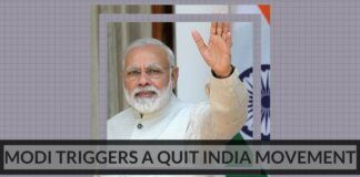 Modi triggers a quit India movement