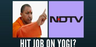 NDTV is now back to the familiar theme of running down a BJP Chief Minister.
